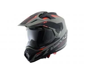 Шлем ASTON Cross Tourer Adventure, серый / черный