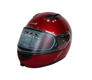 Шлем STELS FF370 снегоходный зимний с подогревом, красный