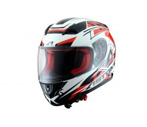 Шлем ASTON GT600K Boyster, белый / красный