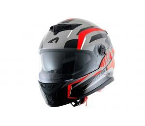 Шлем ASTON GT 800 DRONE, красный / флуоресцентный
