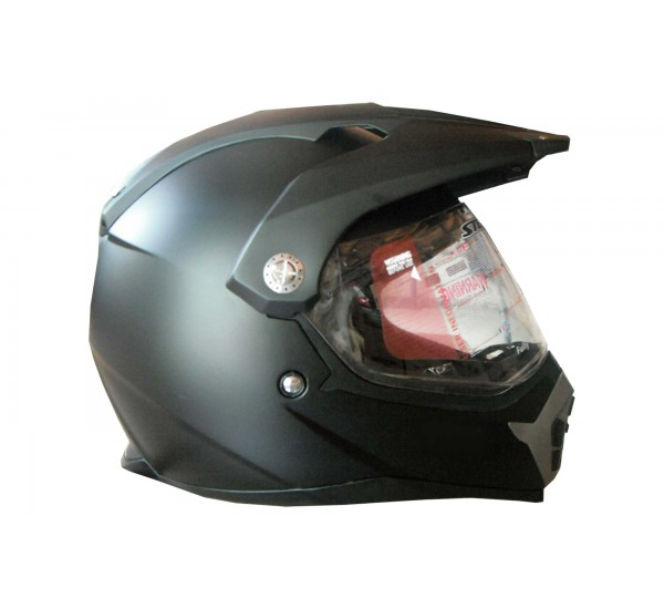 Шлем STELS MX455, черный матовый