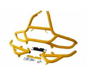Защита передняя усиленная, желтая (шагрень)